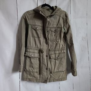BP nordstrom olive green utility jacket hooded XS